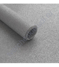 Ткань декоративная Глиттер, толщина 0.4 мм, 30х32 см, (+/-2см),цвет серебро