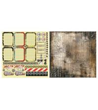 Лист двусторонней бумаги для скрапбукинга 30х30см, 170 гр/м, коллекция Rusty, лист 5001