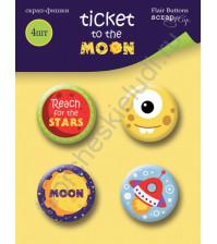 Набор фишек из металла Ticket to the Moon, 4 штуки