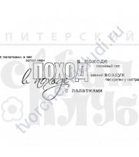ФП печать (штамп) В поход (отдых на природе), 9.5х3 см