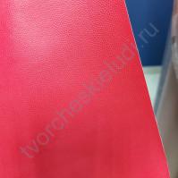 Кожзам переплетный с тиснением Геккон, плотность 255 гр/м2, 70х50 см, цвет красный