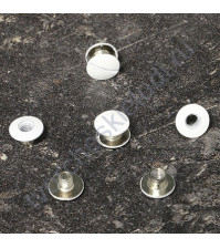 Винт для установки кольцевого механизма, высота 3.5 мм, цвет белый