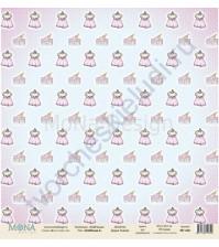 Бумага для скрапбукинга односторонняя DollHouse, 30.5х30.5 см, 190 гр/м, лист DollHouse-3