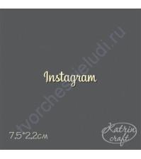 Чипборд Надпись Instagram