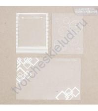Набор оверлеев (прозрачных карточек) с фольгированием серебром Лучшее время для счастья, 3 элемента