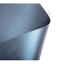 Лист гладкой дизайнерской бумаги с эффектом металлик Cocktail 290 гр, формат 30х30, цвет синий