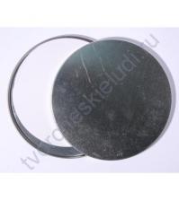Заготовка для альбома в жестяной коробочке Круг, диаметр 124 мм, альбом на 5 стр. плотностью 250гр/м2