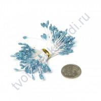 Тычинки двусторонние с глиттером, 80 шт, цвет синий