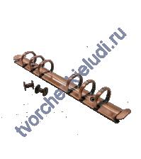 Кольцевой механизм на 6 колец c 2-мя винтами, 16 мм, формат А6, цвет медь