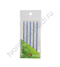 Полужемчужинки клеевые 3 мм, 175 шт, цвет синий