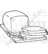 ФП штамп (печать) Хлеб, 5х3 см
