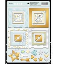 Набор декоративных элементов из чипборда с фольгированием, коллекция Smile Baby, 30 шт