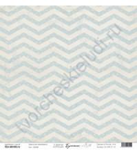 Бумага для скрапбукинга односторонняя, коллекция Бумажные птицы, 30.5х30.5 см, 190 гр\м2, лист Линии