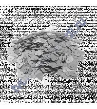 Пайетки в форме сердца с эффектом металлик 8 мм, 10 гр, цвет 01-серебро