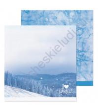 Бумага для скрапбукинга двусторонняя 30.5х30.5 см, 190 гр/м, лист Люблю зиму