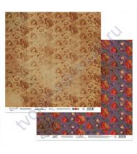 Бумага для скрапбукинга двусторонняя Щелкунчик, 190 гр/м2, 30.5х30.5 см, лист 6