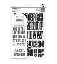 Набор ножей для вырубки Свадебный алфавит и цифры