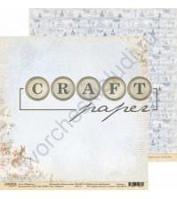Бумага для скрапбукинга двусторонняя 30.5х30.5 см, 190 гр/м, коллекция Лесная сказка, лист Зайчики