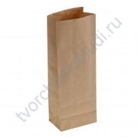 Пакет из крафт-бумаги, плотность 120 гр, 8х5х23 см