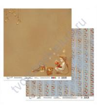 Бумага для скрапбукинга двусторонняя Щелкунчик, 190 гр/м2, 30.5х30.5 см, лист 3
