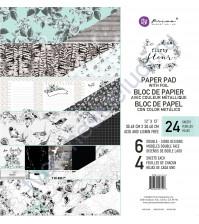 Набор двусторонней бумаги с фольгированием Flirty Fleur, 30.5х30.5 см, 24 листа (ЦЕНА УКАЗАНА ЗА 1/2 ЧАСТЬ НАБОРА - 12 листов)