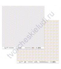 Бумага для скрапбукинга двусторонняя Зефирка, 190 гр/м2, 30.5х30.5 см, лист 4