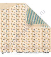 Бумага для скрапбукинга двусторонняя Море зовет, 30.5х30.5 см, 190 гр/м, лист 6