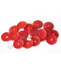 Пайетки круглые с глянцевым эффектом 6 мм, 10 гр, цвет красный