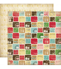 Бумага для скрапбукинга двусторонняя коллекция Homemade with Love Collection, 30.5х30.5 см, 180 гр/м, лист Secret Recipe