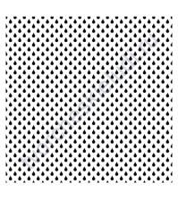 Трафарет пластиковый многоразовый Капельки, 15.2х15.2 см, толщ. 0.15 мм