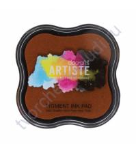 Штемпельная пигментная подушечка Pigment Ink pad, 7х7 см, цвет темно-оранжевый