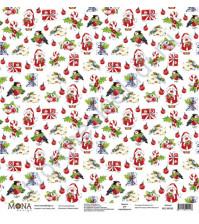 Бумага для скрапбукинга односторонняя Зимняя сказка, 30.5х30.5 см, 190 гр/м, лист Сказочный узор