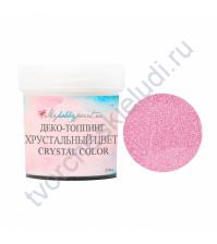 Деко-топпинг Хрустальный цвет, 20 мл, цвет розовый