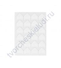 Уголки клеящиеся для фотографий бумажные, 15х15 мм, 24 шт, цвет белый