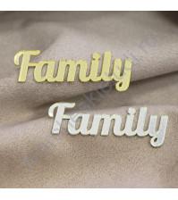 Декоративная надпись Family, 17х58 мм, цвет в ассортименте