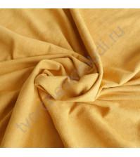 Искусственная замша двусторонняя, плотность 270 г/м2, размер 33х75 см (+/- 2см), цвет горчичный