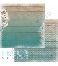 Бумага для скрапбукинга двусторонняя, коллекция Лагуна, 30х30 см плотность 190г/м, лист Подводное царство