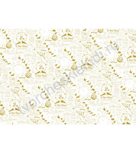 Пленка с золотым рисунком для декора Prince, коллекция The Little Prince, толщина 0.25 мм, формат А4