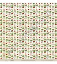 Бумага для скрапбукинга односторонняя коллекция Кулинарное искусство, 30.5х30.5 см, 190 гр/м, лист Салаты