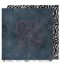Бумага для скрапбукинга двусторонняя, 30.5х30.5 см, плотность 190 гр/м2, коллекция Die Villa, лист Яркий акцент