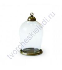 Стеклянный мини-колпак, 30х18 мм