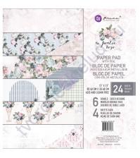 Набор двусторонней бумаги с фольгированием Poetic Rose, 30.5х30.5 см, 24 листа (ЦЕНА УКАЗАНА ЗА 1/2 ЧАСТЬ НАБОРА - 12 листов)
