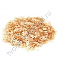 Мини пайетки круглые с матовым эффектом 3 мм, 10 гр, цвет песочный