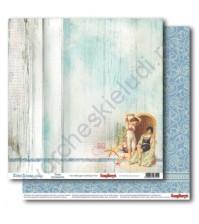 Бумага для скрапбукинга двусторонняя 30.5х30.5 см 190 гр/м, коллекция Курортный роман, лист Воспоминания
