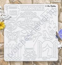 Набор чипборда, коллекция My Gardening, 13.5х14.5 см, 15 элементов