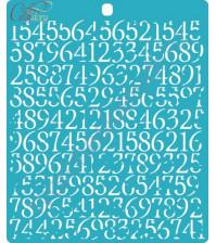 Трафарет пластиковый Фон из цифр, 14.6х16.4 см