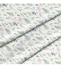 Ткань для рукоделия Лесные травы, 100% хлопок, плотность 150 гр/м2, размер отреза 33х80 см