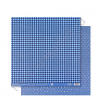 Бумага для скрапбукинга двусторонняя Базовая 30.5х30.5 см, 180 гр/м2, лист Синий