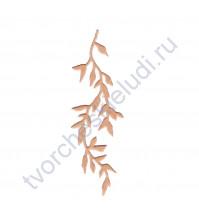 Вырубка из дизайнерской бумаги Свисающая ветвь, 35х90 мм, цвет в ассортименте