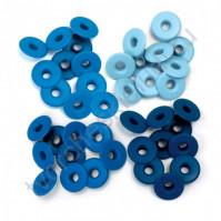 Набор люверсов Memory Keepers с широким ободом 40 шт, оттенки голубого